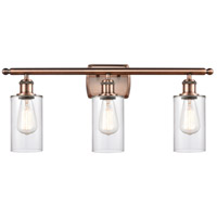 Innovations Lighting 516-3W-AC-G802 Clymer 3 Light 26 inch Antique Copper Bath Vanity Light Wall Light Ballston