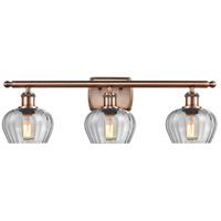 Innovations Lighting 516-3W-AC-G92 Fenton 3 Light 26 inch Antique Copper Bath Vanity Light Wall Light Ballston
