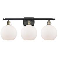 Innovations Lighting 516-3W-BAB-G121 Athens 3 Light 26 inch Black Antique Brass Bath Vanity Light Wall Light Ballston
