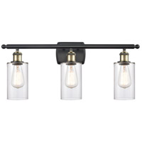 Innovations Lighting 516-3W-BAB-G802 Clymer 3 Light 26 inch Black Antique Brass Bath Vanity Light Wall Light Ballston