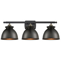 Innovations Lighting 516-3W-BAB-M14-BK Adirondack 3 Light 28 inch Black Antique Brass Bath Vanity Light Wall Light Ballston