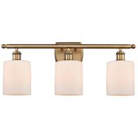 Innovations Lighting 516-3W-BB-G111-LED Cobbleskill LED 26 inch Brushed Brass Bath Vanity Light Wall Light Ballston
