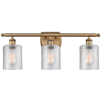 Innovations Lighting 516-3W-BB-G112 Cobbleskill 3 Light 26 inch Brushed Brass Bath Vanity Light Wall Light, Ballston