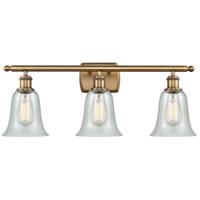 Innovations Lighting 516-3W-BB-G2812 Hanover 3 Light 26 inch Brushed Brass Bath Vanity Light Wall Light Ballston
