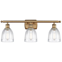 Innovations Lighting 516-3W-BB-G442 Brookfield 3 Light 26 inch Brushed Brass Bath Vanity Light Wall Light Ballston