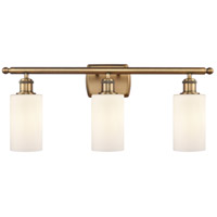 Innovations Lighting 516-3W-BB-G801 Clymer 3 Light 26 inch Brushed Brass Bath Vanity Light Wall Light Ballston