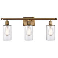 Innovations Lighting 516-3W-BB-G802 Clymer 3 Light 26 inch Brushed Brass Bath Vanity Light Wall Light Ballston