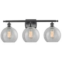 Innovations Lighting 516-3W-BK-G125-LED Athens LED 26 inch Matte Black Bath Vanity Light Wall Light Ballston