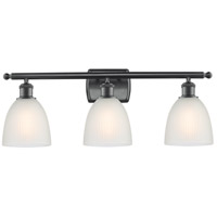 Innovations Lighting 516-3W-BK-G381-LED Castile LED 26 inch Matte Black Bath Vanity Light Wall Light Ballston