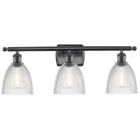 Innovations Lighting 516-3W-BK-G382-LED Castile LED 26 inch Matte Black Bath Vanity Light Wall Light Ballston