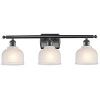 Innovations Lighting 516-3W-BK-G411-LED Dayton LED 26 inch Matte Black Bath Vanity Light Wall Light Ballston