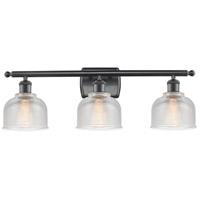 Innovations Lighting 516-3W-BK-G412-LED Dayton LED 26 inch Matte Black Bath Vanity Light Wall Light Ballston