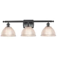 Innovations Lighting 516-3W-BK-G422-LED Arietta LED 26 inch Matte Black Bath Vanity Light Wall Light Ballston