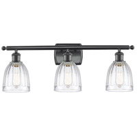 Innovations Lighting 516-3W-BK-G442 Brookfield 3 Light 26 inch Matte Black Bath Vanity Light Wall Light Ballston