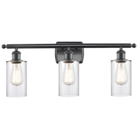 Innovations Lighting 516-3W-BK-G802 Clymer 3 Light 26 inch Matte Black Bath Vanity Light Wall Light Ballston