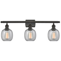 Belfast 3 Light 26 inch Oiled Rubbed Bronze Bathroom Fixture Wall Light