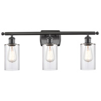 Innovations Lighting 516-3W-OB-G802 Clymer 3 Light 26 inch Oil Rubbed Bronze Bath Vanity Light Wall Light Ballston