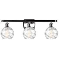 Innovations Lighting 516-3W-PC-G1213-6 Small Deco Swirl 3 Light 26 inch Polished Chrome Bath Vanity Light Wall Light Ballston