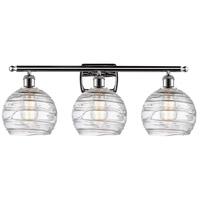 Innovations Lighting 516-3W-PC-G1213-8 Deco Swirl 3 Light 26 inch Polished Chrome Bath Vanity Light Wall Light Ballston