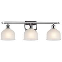 Innovations Lighting 516-3W-PC-G411-LED Dayton LED 26 inch Polished Chrome Bath Vanity Light Wall Light Ballston