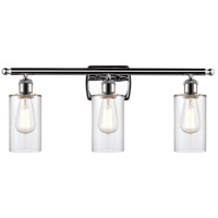 Innovations Lighting 516-3W-PC-G802-LED Clymer LED 26 inch Polished Chrome Bath Vanity Light Wall Light Ballston