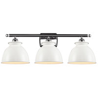 Innovations Lighting 516-3W-PC-M14-W Adirondack 3 Light 28 inch Polished Chrome Bath Vanity Light Wall Light Ballston