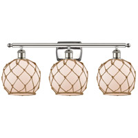 Polished Nickel Rope Bathroom Vanity Lights