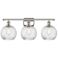 Innovations Lighting 516-3W-PN-G1214-8 Twisted Swirl 3 Light 26 inch Polished Nickel Bath Vanity Light Wall Light Ballston