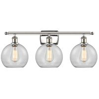Innovations Lighting 516-3W-PN-G122 Athens 3 Light 26 inch Polished Nickel Bath Vanity Light Wall Light Ballston