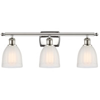 Polished Nickel Brookfield Bathroom Vanity Lights