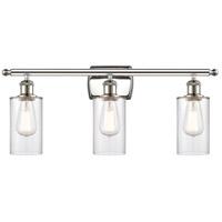 Innovations Lighting 516-3W-PN-G802 Clymer 3 Light 26 inch Polished Nickel Bath Vanity Light Wall Light Ballston