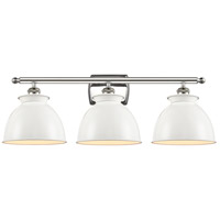 Innovations Lighting 516-3W-PN-M14-W Adirondack 3 Light 28 inch Polished Nickel Bath Vanity Light Wall Light Ballston