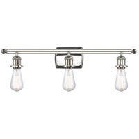 Innovations Lighting 516-3W-PN Bare Bulb 3 Light 26 inch Polished Nickel Bath Vanity Light Wall Light Ballston