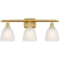 Innovations Lighting 516-3W-SG-G381-LED Castile LED 26 inch Satin Gold Bath Vanity Light Wall Light Ballston