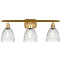 Innovations Lighting 516-3W-SG-G382-LED Castile LED 26 inch Satin Gold Bath Vanity Light Wall Light Ballston
