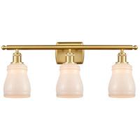 Innovations Lighting 516-3W-SG-G391-LED Ellery LED 26 inch Satin Gold Bath Vanity Light Wall Light Ballston