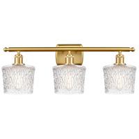 Innovations Lighting 516-3W-SG-G402-LED Niagra LED 26 inch Satin Gold Bath Vanity Light Wall Light Ballston