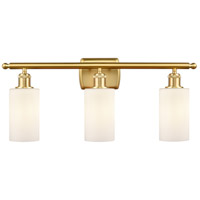 Innovations Lighting 516-3W-SG-G801-LED Clymer LED 26 inch Satin Gold Bath Vanity Light Wall Light Ballston