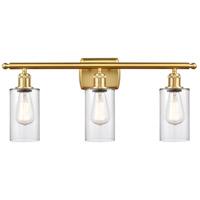 Innovations Lighting 516-3W-SG-G802 Clymer 3 Light 26 inch Satin Gold Bath Vanity Light Wall Light Ballston