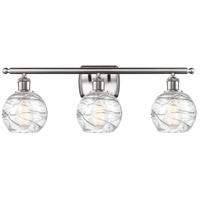 Innovations Lighting 516-3W-SN-G1213-6 Small Deco Swirl 3 Light 26 inch Satin Nickel Bath Vanity Light Wall Light Ballston