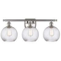 Innovations Lighting 516-3W-SN-G1214-8 Twisted Swirl 3 Light 26 inch Satin Nickel Bath Vanity Light Wall Light Ballston