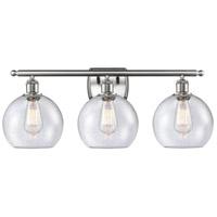 Innovations Lighting 516-3W-SN-G124 Athens 3 Light 26 inch Satin Nickel Bath Vanity Light Wall Light Ballston