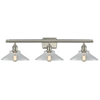Innovations Lighting 516-3W-SN-G132 Disc 3 Light 26 inch Brushed Satin Nickel Vanity Light Wall Light