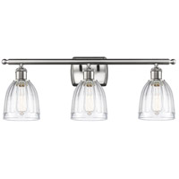 Innovations Lighting 516-3W-SN-G442 Brookfield 3 Light 26 inch Brushed Satin Nickel Bath Vanity Light Wall Light Ballston