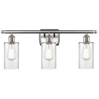 Innovations Lighting 516-3W-SN-G802 Clymer 3 Light 26 inch Satin Nickel Bath Vanity Light Wall Light Ballston