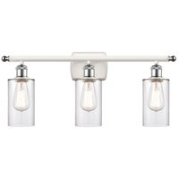 Innovations Lighting 516-3W-WPC-G802-LED Clymer LED 26 inch White And Polished Chrome Bath Vanity Light Wall Light Ballston