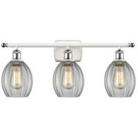 Innovations Lighting 516-3W-WPC-G82-LED Eaton LED 26 inch White And Polished Chrome Bath Vanity Light Wall Light Ballston