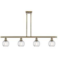 Innovations Lighting 516-4I-AB-G1214-6-LED Small Twisted Swirl LED 46 inch Antique Brass Island Light Ceiling Light Ballston