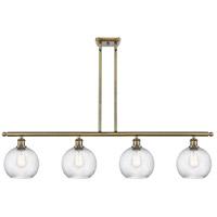 Innovations Lighting 516-4I-AB-G1214-8-LED Twisted Swirl LED 48 inch Antique Brass Island Light Ceiling Light Ballston