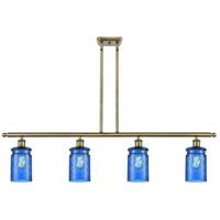 Innovations Lighting 516-4I-AB-G352-BL Candor 4 Light 48 inch Antique Brass Island Light Ceiling Light, Ballston